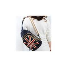 Faux-Leather Flag Pattern Slingback Bag ($28) ❤ liked on Polyvore featuring bags, handbags, shoulder bags, accessories, vegan shoulder bag, vegan leather handbags, vegan leather purse and synthetic leather handbag