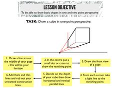 1 and 2-point perspective lesson does not connect to lesson- only website