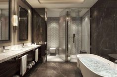 The Most Expensive Luxury Hotel Apartments of Olympic Sochi - English Russia Hotel Apartment, Mini Kitchen, Amazing Bathrooms, Sweet Home, Bedroom Decor, Mansions, Interior Design, Architecture, House