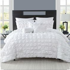 Madalyn 8 Piece Comforter Set - White by Madison