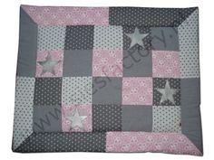 Boxkleed licht roze, grijs en wit met zilveren sterren | boxkleden | Sies Factory