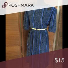 """1970s Casual evening dress 70's evening dress with 2 large buttons and elastic waist and back zipper. Waist: 28"""" unstretched Vintage Dresses"""