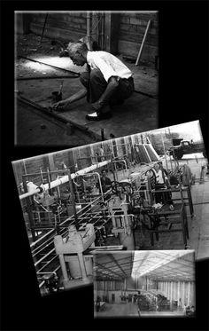 Instalando las prensas para la fabricación de elepés