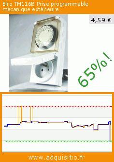 Elro TM116B Prise programmable mécanique extérieure (Outils et accessoires). Réduction de 65%! Prix actuel 4,59 €, l'ancien prix était de 13,20 €. https://www.adquisitio.fr/elro/tm116b-prise-programmable