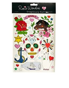 Rosie Wonders Mexican Skull Temporary Tattoo