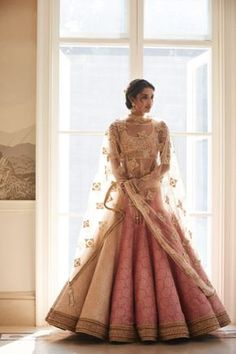 So pretty and sweet. Looks like a doll in pink Pose In Gorgeous Tarun Tahiliani Couture: WMG Red Carpet Bride Shoot in Delhi Indian Bridal Outfits, Indian Bridal Fashion, Indian Designer Outfits, Indian Dresses, Bridal Dresses, Indian Wedding Clothes, Indian Fashion Modern, Indian Wedding Sari, Indian Bridal Wear