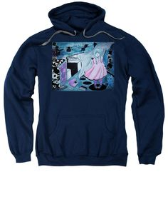 Mystery Girl-cyclops Sweatshirt featuring the painting Midnight Dream by Tiana Art