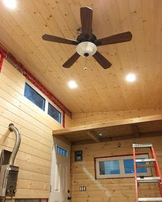 Wired in the fan yesterday complete with the wireless remote attachment in the fan canopy! Placed it over the propane fireplace to help push the heat back down into the house. #tinyhouseinterior #interiordesign #rustic #custombuilt #tinyhousebuild #tinyhousebuilders #tinyhouse #tinyhouses #tinyhome #tinyhomes #THOW #tinyhouseonwheels #thehillsonwheels #tinyhousemovement #tinyhousenation #tinyhouselife #tinyhouseliving #offgrid #adventurelife #homeiswhereyouparkit #lessismore #livesimply