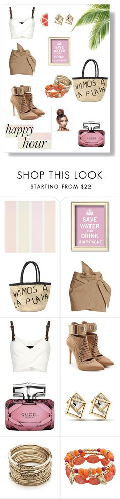 """Happy Hour 🥂"" by lauren-ilana ❤ liked on Polyvore featuring Sensi Studio, Étoile Isabel Marant, Barbara Bui, Puma, Gucci and Sole Society"
