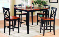 Counter Height Dining Table and Chairs Set - Walnut - - Product Description: You will receive a total of 4 counter height chairs and 1 dining table. Dimension of the table: x x Cheap Dining Room Sets, Living Room Sets, Living Room Chairs, Table And Chair Sets, Dining Table Chairs, Dining Room Furniture, Kitchen Tables, Dining Area, Kitchen Cabinets