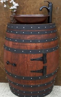 * #Ranch#Western#DIY 3 Gorgeous Ideas of Making Rustic Barrel Sink | My Home Decor Guide