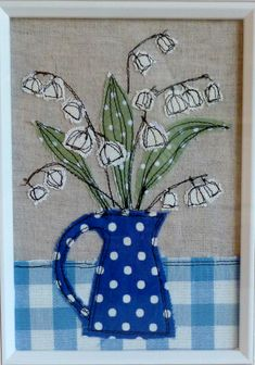 45 Ideas Sewing Art Painting Machine Embroidery For 2019 Freehand Machine Embroidery, Free Motion Embroidery, Free Machine Embroidery, Embroidery Applique, Embroidery Patterns, Quilting Patterns, Quilting Designs, Fabric Postcards, Fabric Cards