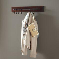 Birch Lane™ Heritage Crawford Wall Mounted Coat Rack with Hooks Wall Mounted Coat Rack, Wall Racks, Coat Hooks, Wall Hanger, Hangers, Pot Racks, Wooden Coat Rack, Birch Lane, Bag Organization