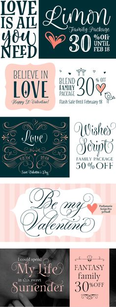 ST. VALENTINE'S DISCOUNTS. Surrender to these offers! https://www.fontspring.com/foundry/typesenses  #Valentineday #Valentine #Fonts #discount #love #StValentine