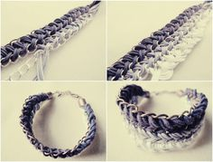 rope and chain bracelet tutorial. Great blog¡