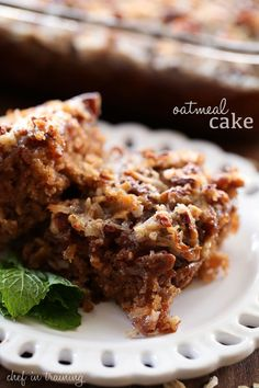 This Oatmeal Cake will be one of THE BEST things you ever make! It is so moist and the flavors and textures fuse together for perfection in every bite!
