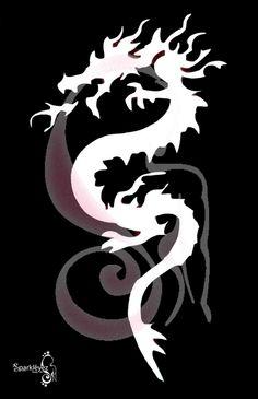 Japanese Dragon Stencil | Dragon Stencil...