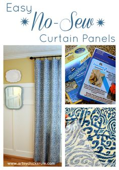DIY No Sew Curtain Panels - Inexpensive and Easy