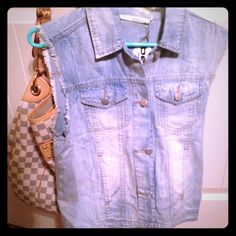 Ellison Denim Vest Ellison denim vest, brand new with tags. Great for fall and spring layering! Just a bit too big for me. Size is small but I think this could also fit a medium. Jackets & Coats Vests