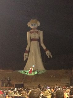 His inspiration for Zozobra came from the Holy Week celebrations of the Yaqui Indians of Mexico; an effigy of Judas, filled with firecrackers, was led around the village on a donkey and later burned. Shuster and E. Dana Johnson, a newspaper editor and friend of Shuster�s came up with the name Zozobra, which was defined as �anguish, anxiety, gloom� or in Spanish for �the gloomy one.�