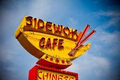 Sidewok Cafe Chinese Food Sign - Vintage Neon Sign - Retro Kitchen Decor - Denver Wall Art - 20X30 Fine Art Photograph via Etsy