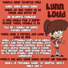 Get to know Lynn Loud! ⚽️⚾️ #theloudhouse