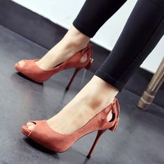 Shoespie Peep-toe Breathable Tassels Stiletto Heels