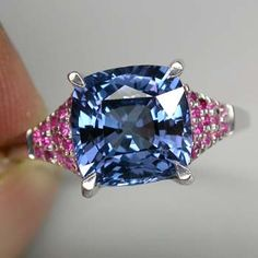 4 ct Alexandrite Gemstone with Rubies in Sterling Silver