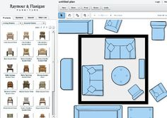 Raymour & Flanigan Interactive Room Planner- Small Living Room Ideas: 10 Ways to Furnish & Lay Out 100 Square Feet Small Living Room Layout, Small Living Room Furniture, Living Room Furniture Arrangement, Small Room Design, Small Space Living, Arranging Furniture, Furniture Ideas, Furniture Nyc, Classic Furniture