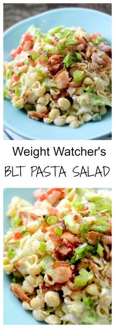 Weight Watcher's BLT Pasta Salad - Recipe Diaries - 3 points per cup - A lighter pasta side dish for Summer.: