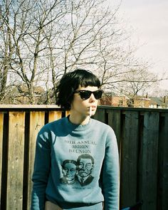 Alice Glass super short, chopped hair