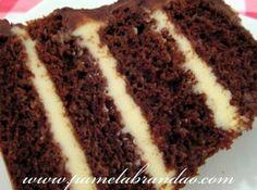 Bolo de Chocolate com Recheio Trufado de Maracujá
