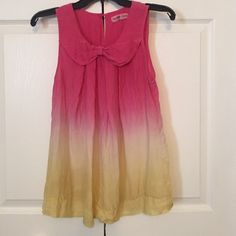 Sugar Lips Pink to Yellow Ombré Blouse Sugar Lips pink to yellow ombré top. Not yet worn!  Sugar Lips Tops Blouses