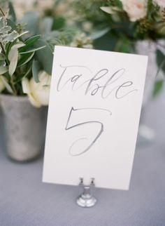 Calligraphy signage: http://www.stylemepretty.com/2015/02/12/romantic-ivory-grey-ojai-valley-inn-wedding/ | Photography: Diana McGregor - http://www.dianamcgregor.com/
