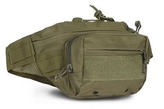 Cool Walker Outdoor Multipurpose Tactical Waist Bags Camouflage Cycling Bike Bag. Material outside:600D Oxford waterproof fabric. Lining: 210D nylon. Capacity: roomy, different staff can be put in;. Dimensions:10.2(L) *6.7(W)*7.5(H) inch /26x17x19cm, please allow 1-2cm differs. Feature: exquisite design and high quality material high-quality smooth zipper Reinforcement strap, reduce shoulder pressure, user-friendly design; Suitable for camping, outdoors, hiking riding and so on.