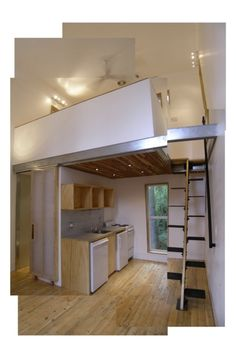 Loft House Idea add read stairs. and a 2nd bedroom on the other side and its perfect
