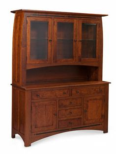 Aspen Open Hutch China Cabinet by Simply Amish at Becker Furniture World Mission Furniture, Amish Furniture, Primitive Furniture, Solid Wood Furniture, Furniture Making, Furniture Decor, Open Buffet, Tudor Cottage, China Cabinet