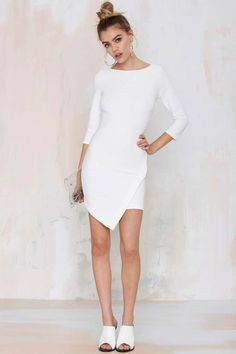 Nasty Gal Slippery Slope Knit Dress - Going Out | Body-Con | Dresses
