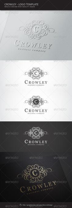 Crowley Logo  EPS Template • Download ➝ https://graphicriver.net/item/crowley-logo/3569122?ref=pxcr