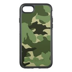 Cool Green Camo Military Camouflage Pattern Robust OtterBox Symmetry iPhone 7 Case