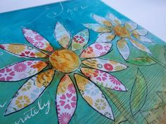 great mixed media photo tutorial  Dream Flowers: Mixed Media Collage with Guest Artist Caitlin Dundon