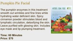 Pumpkin Pie Facial at KB Organic Skin Care   http://www.kbaesthetics.vpweb.com