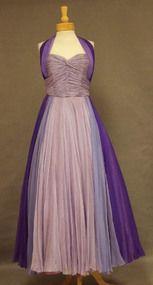 Exquisite Purple Ombre Chiffon Halter Evening Gown