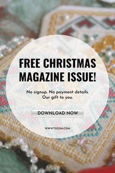 Christmas Cross, Christmas Ornament, Cross Stitch Designs, Cross Stitch Patterns, Cross Stitching, Cross Stitch Embroidery, Scandinavian Christmas Decorations, Cross Stitch Magazines, Rug Hooking Patterns