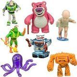 """Includes Buzz Lightyear, Lots-O'-Huggin' Bear, Big Baby, Twitch, Chunk, Stretch and Sparks Scenic display packaging Plastic/PVC Figures up to 3 1/2"""" H and 4"""" L Imported"""