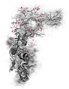 Cherry Blossom Tattoo: Meaning, Designs, Ideas and Much More! Sakura tattoos have been taking the world by storm lately. From what each color tattoo means to plenty of designs, this article will make you want to get a cherry blossom tattoo for yourself! Trendy Tattoos, New Tattoos, Body Art Tattoos, Small Tattoos, Tatoos, Girly Tattoos, Female Back Tattoos, Half Sleeve Tattoos For Women, Medium Tattoos