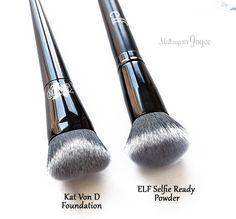 Kat+Von+D+Lock-It+Edge+Foundation+Brush+Dupe+ELF+Selfie+Ready+Powder.jpg - Accessories of Women Beauty Dupes, Beauty Makeup, Beauty Products, Beauty Hacks, Beauty Ideas, Beauty Care, Makeup Goals, Love Makeup, Kat Von D Dupe
