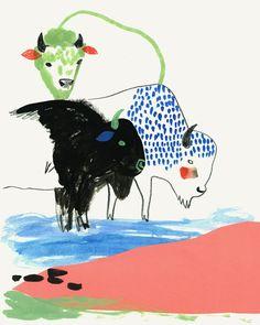 Buffalo Study 1 by Sarah Walsh on Etsy