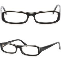 1bc751b732b Details about Small Rectangle Acetate Plastic Frame Rectangle Black  Prescription Glasses Black