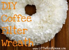 coffee filter wreath #winter decor